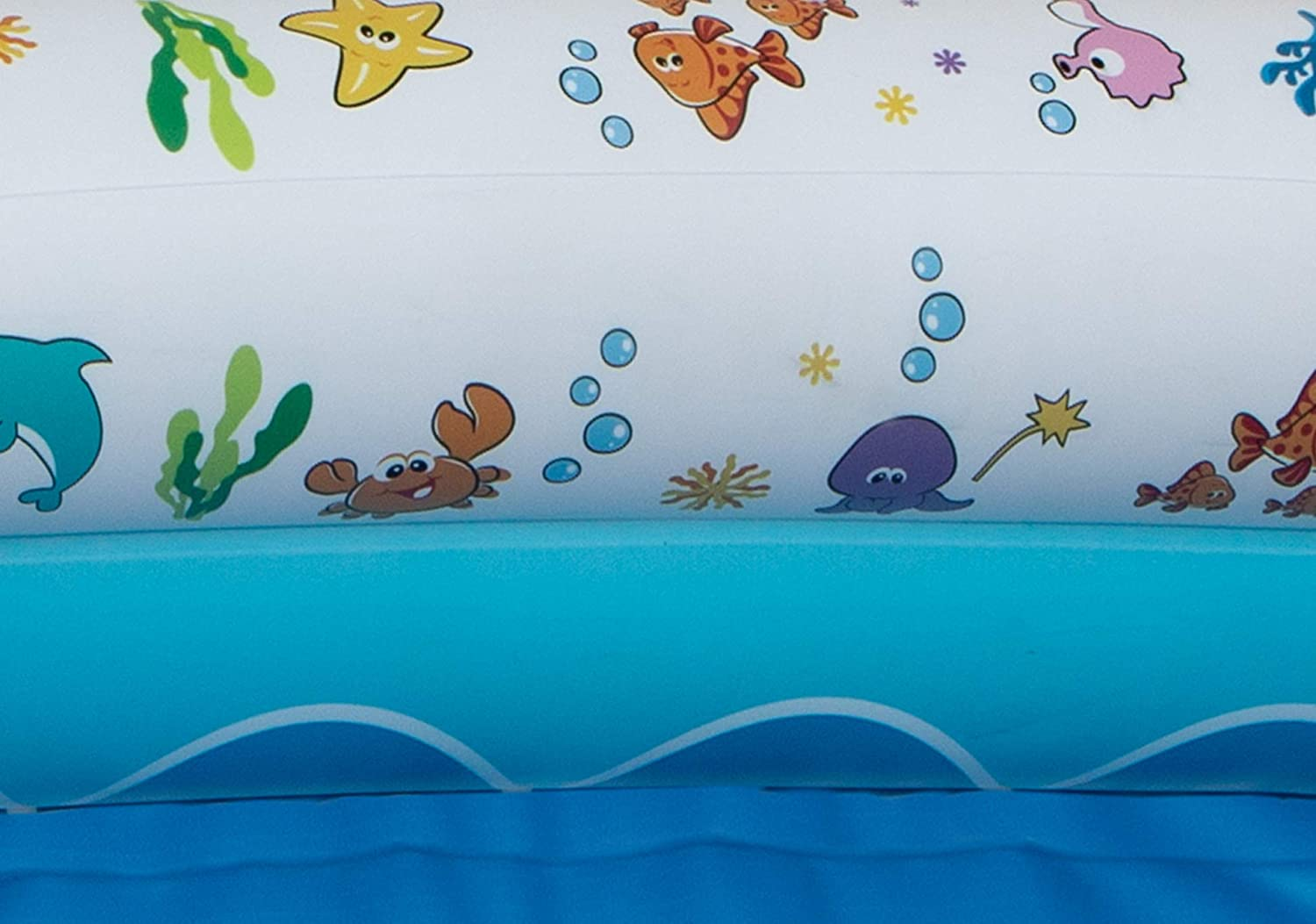 Mommys Helper Inflatable Bathtub for Baby /& Toddler; Saddle Horn Baby Bath Seat Keeps Baby from Sliding; Whimsical Ocean Design Makes Toddler Bath time Fun; Recommended Age 6 to 24 Months