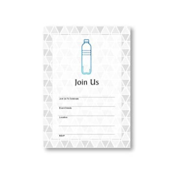 Amazon water bottle empty consumption beverages flat party water bottle empty consumption beverages flat party invitation card 12 cards at 5x7 stopboris Image collections