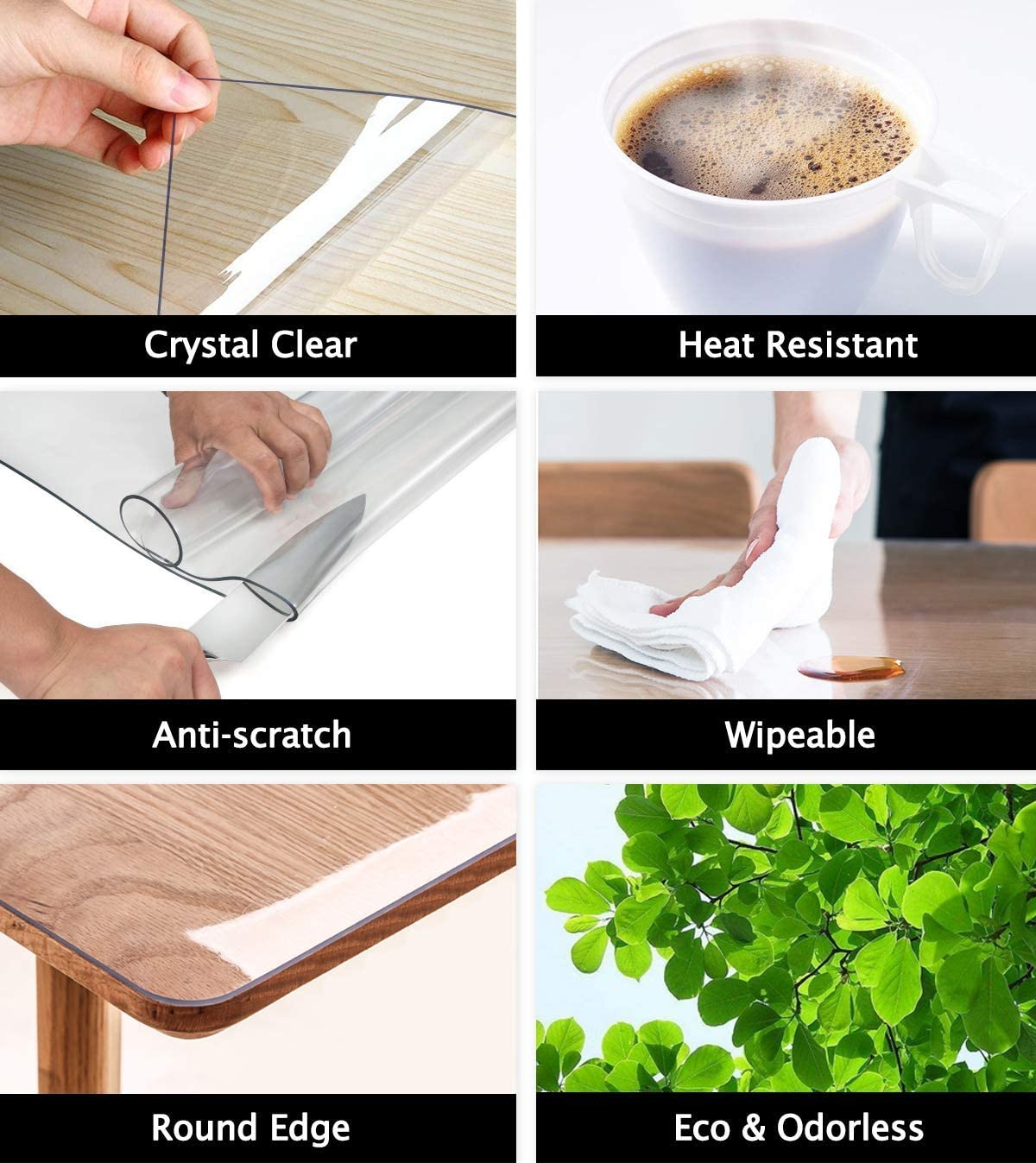 48 X 72 Inch 4ft Clear Plastic Dining Table Protector Tablecloth Desk Pad Mat Wooden Furniture Coffee Glass End Side Pub Table Cloth Top Protection Countertop Cover Waterproof Rectangular Pvc Vinyl Table
