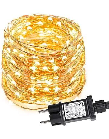 fd205797083 LE Guirnalda de Luces LED 10m 100 LED Blanco cálido