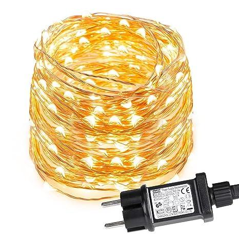 0bc75f97c78 LE Guirnalda de Luces LED 10m 100 LED Blanco cálido