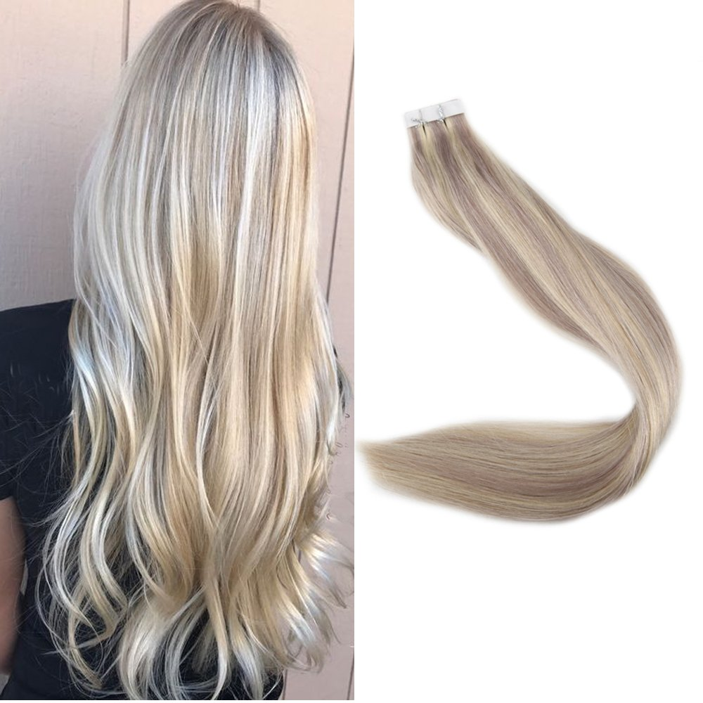 Full Shine 24inch Adhesive Tape In Hair Extensions Piano Color 18