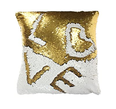 Mermaid Gold Sequin Throw Pillows