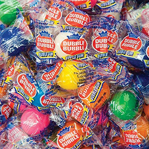 INDIVIDUALLY WRAPPED Original Dubble Bubble 1 inch Gumballs 850ct in 8 Colors and Flavors Assorted - #1 Gumballs