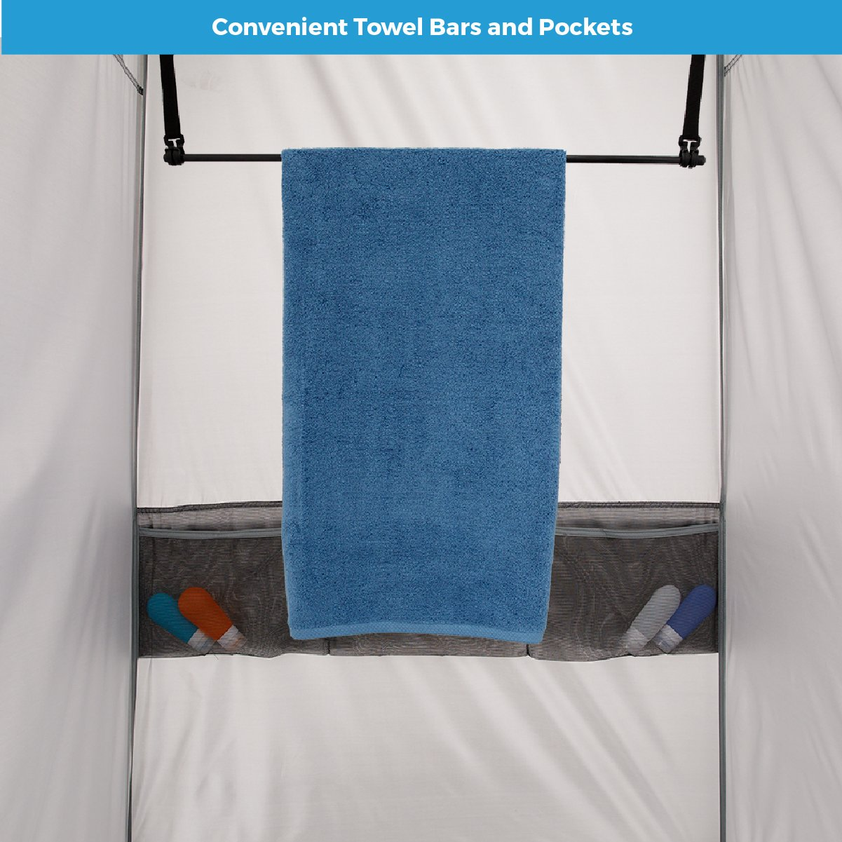 Amazon.com : CORE Instant Shower Tent with Changing Room : Sports ...