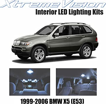 Amazon Com Xtremevision Interior Led For Bmw X5 E53 1999 2006 16 Pieces Cool White Interior Led Kit Installation Tool Automotive