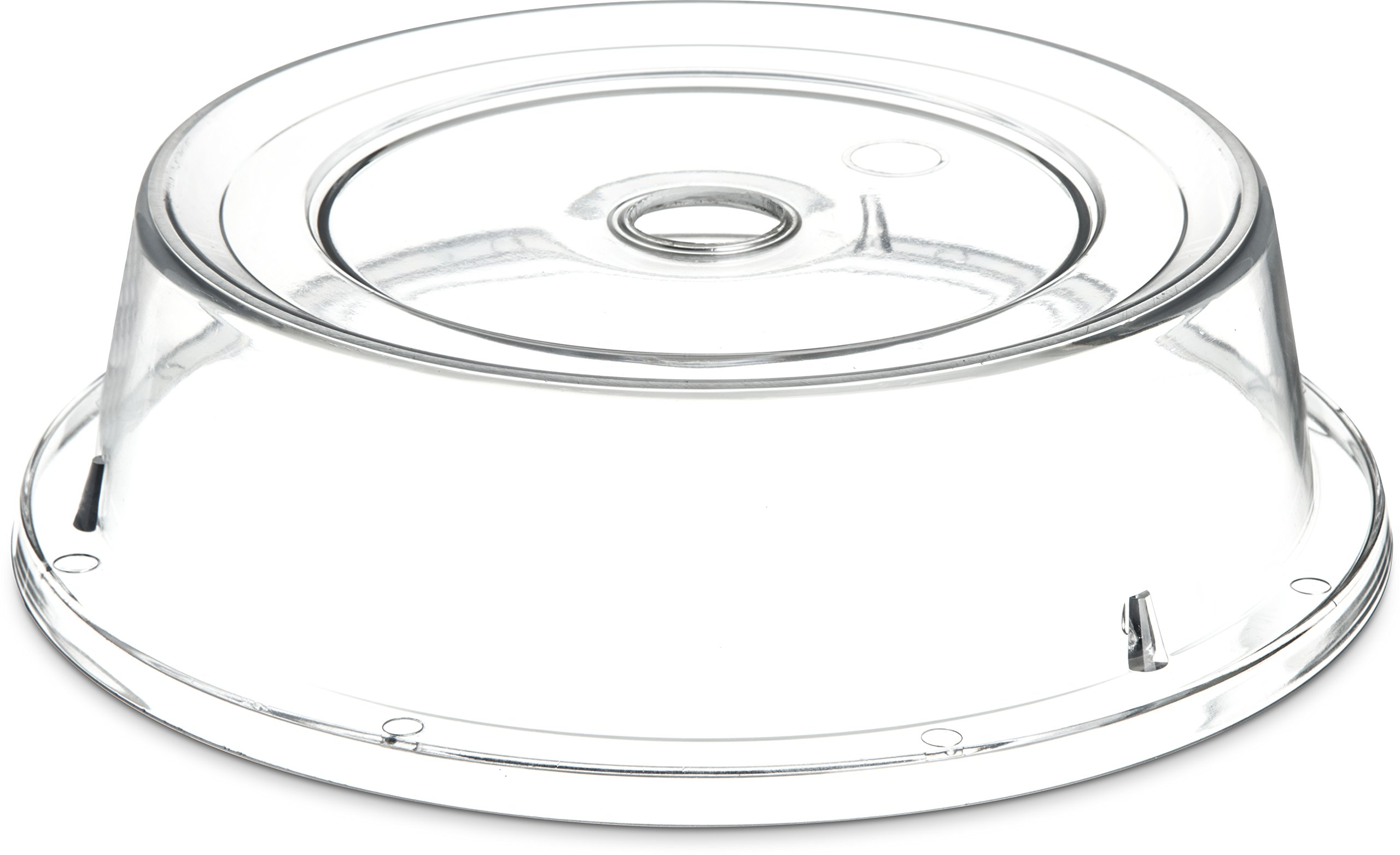 Carlisle 190007 Polycarbonate Plate Cover, 9.37'' Bottom Diameter x 2.56'' Height, Clear (Case of 12)