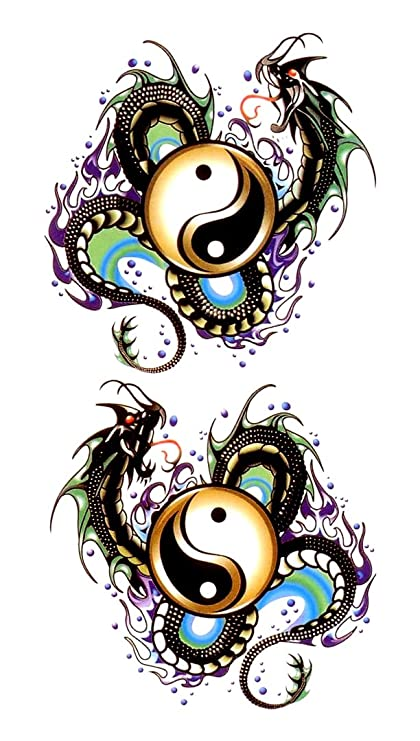 Tatuaje pegatinas Yin Yang: Amazon.es: Belleza