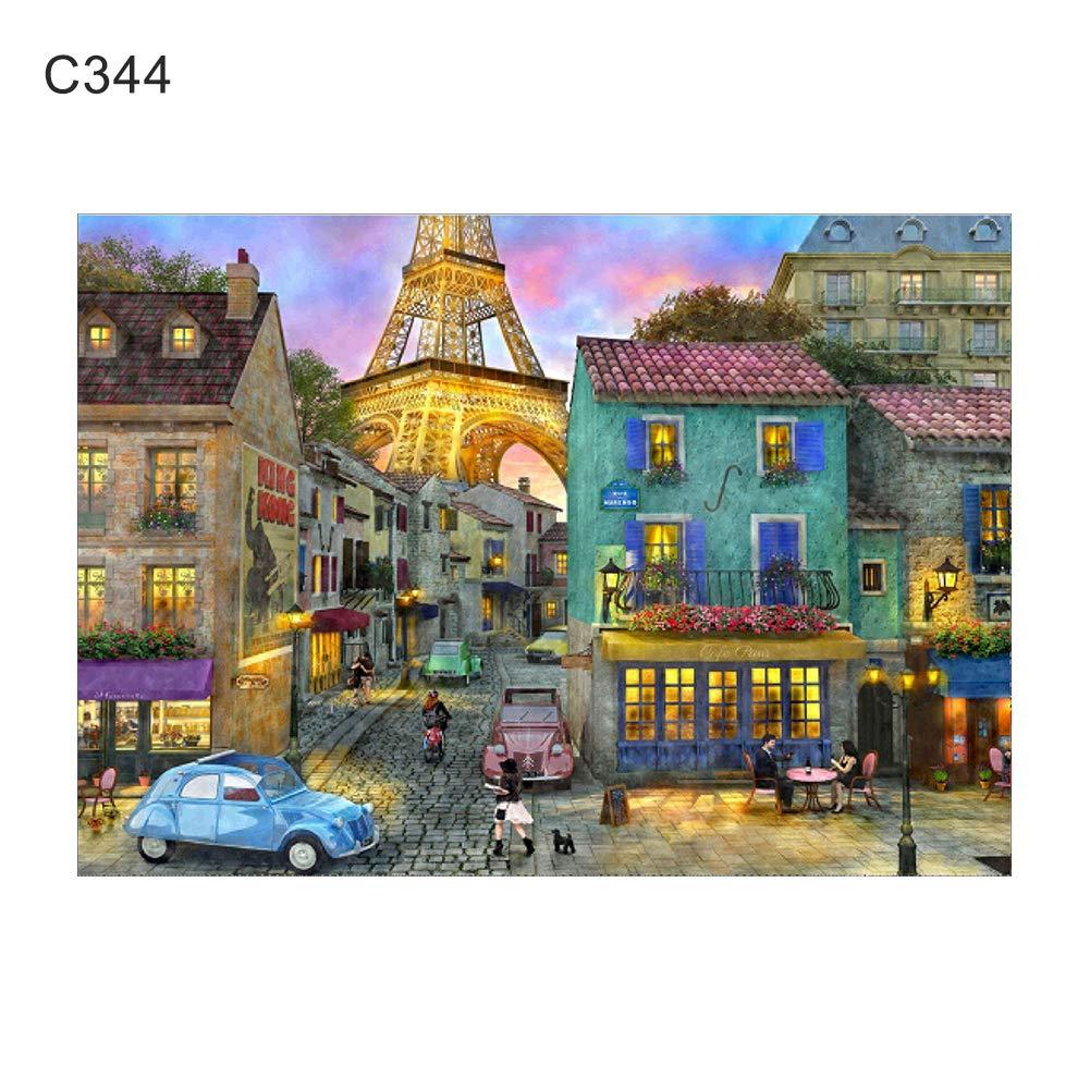 RIsxffp 30/x 40/cm Animale Disegno Pittura Punto Croce Pittura bricolage Diamante Rotondo Completo C335