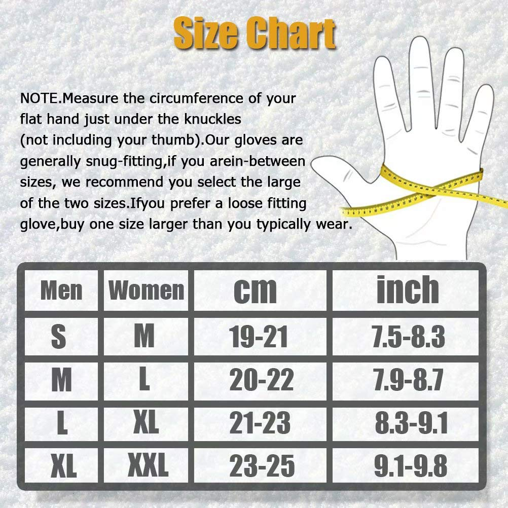 Water Resitant Windproof Touchscreen Gloves For Driving Running Biking Winter Warm Thermal Cycling Gloves For Men Women