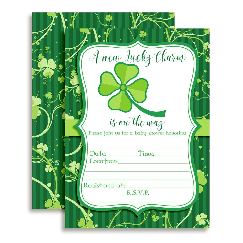 St. Patricks Day invitations