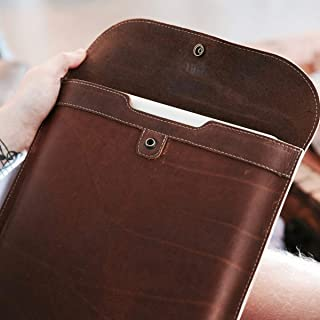 """product image for Fine Leather Sleeve Case for Apple Macbook Pro 13"""" & Macbook Air 13"""" in Brown"""