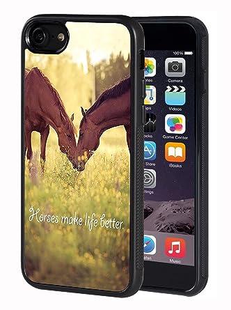 Amazon.com: iPhone 7/iPhone 8 Funda, caballo tema TPU funda ...