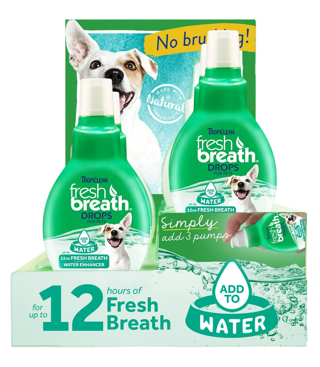 Tropiclean 6 Piece Fresh Breath Drops counter Display