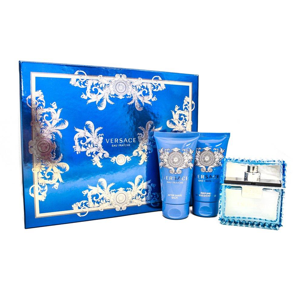 Gianni Versace Man Eau Fraiche 3 Pc. Gift Set (Eau De Toilette Spray 1.7 Oz, Perfumed Bath, Shower Gel 1.7 Oz & Aftershave Balm 1.7 Oz) for Men, 1.7 fl. Oz. VER00069