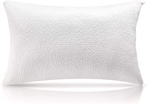 Milemont Shredded Memory Foam Pillow, Bed Pillows, Cooling Pillow for Side Back Sleepers with Washable Removable Cover, CertiPUR-US, Queen