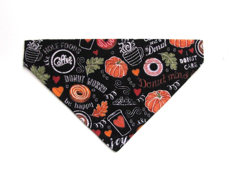 Pumpkin Goodies-Size SMALL Over The Collar Dog Bandanas