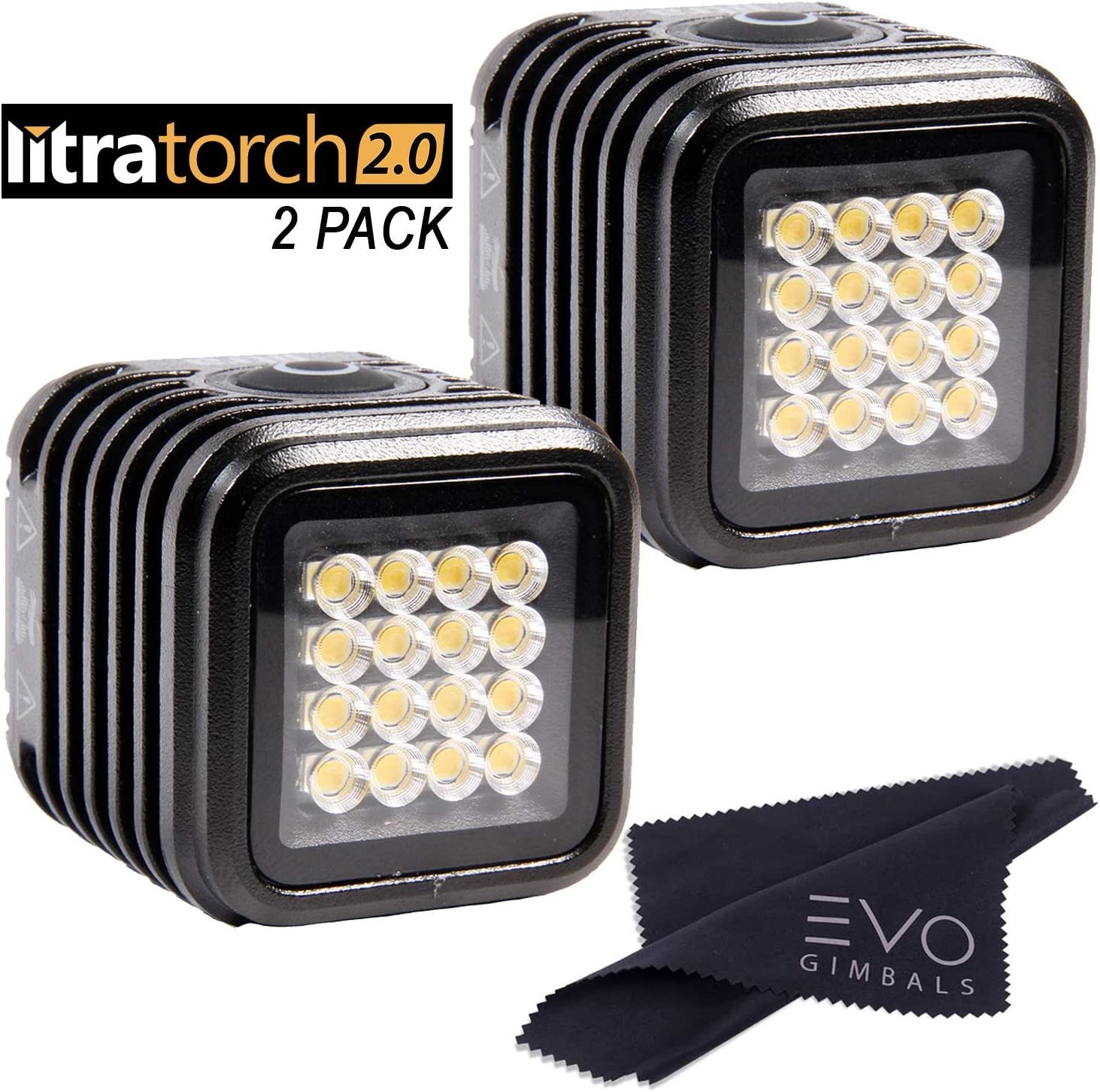 Litra LitraTorch 2.0 Bundle with 2 Litra Torch Lights & Cleaning Cloth (3 Items) - Military Grade Adventure Light for Photos and Videos, Waterproof up to 20M