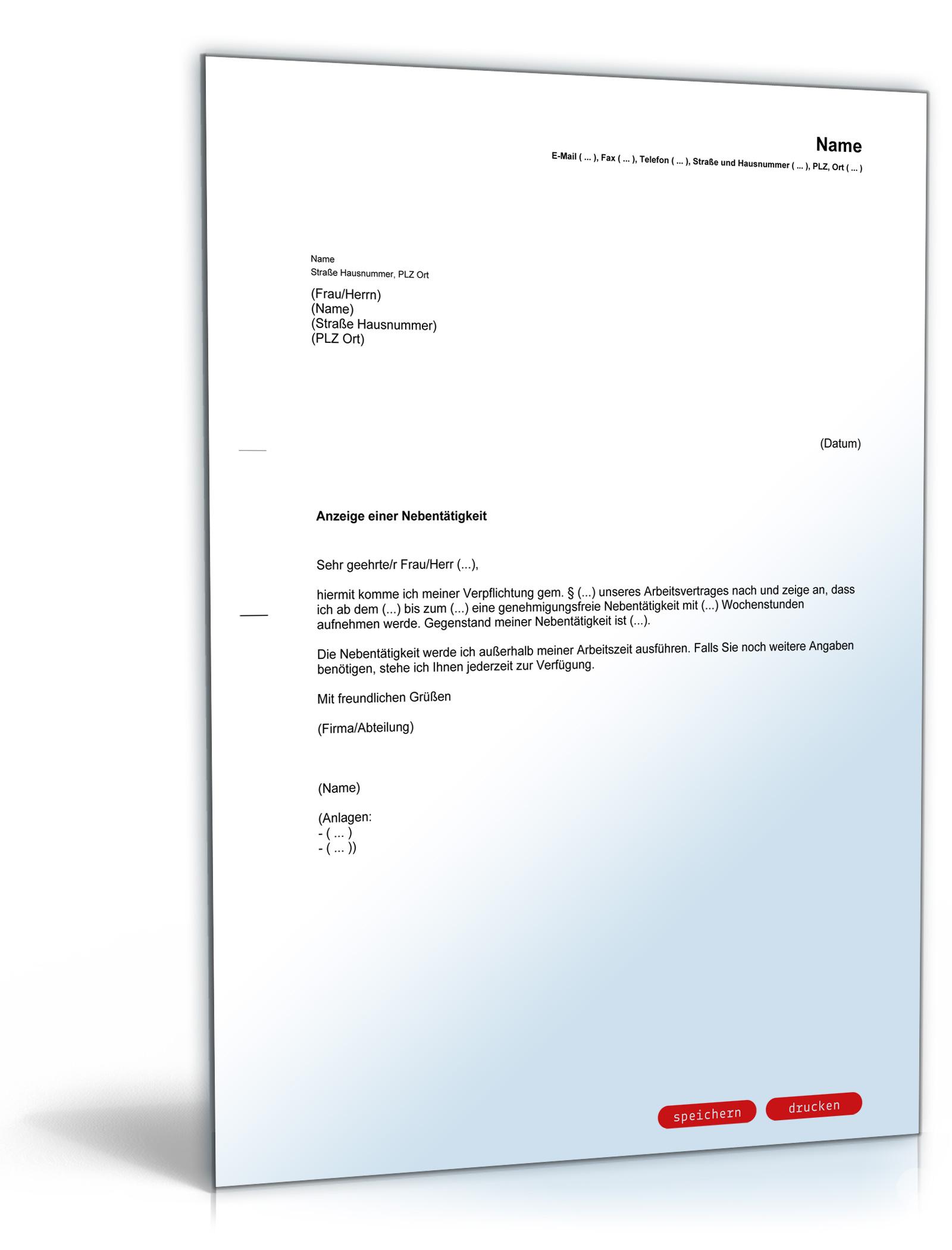 Antrag auf Genehmigung einer Nebentätigkeit - PDF [Download]: Amazon ...