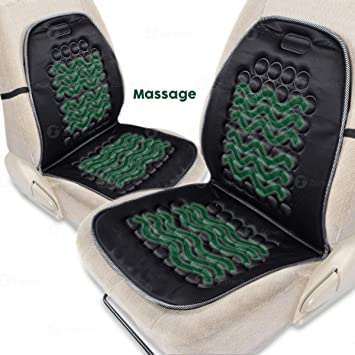 Zone Tech Magnetic Bubble Ultra Comfort Massaging Car Seat Cushion