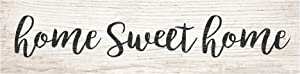P. Graham Dunn Home Sweet Home Script Design White Wash 6 x 1.5 Mini Pine Wood Tabletop Sign Plaque