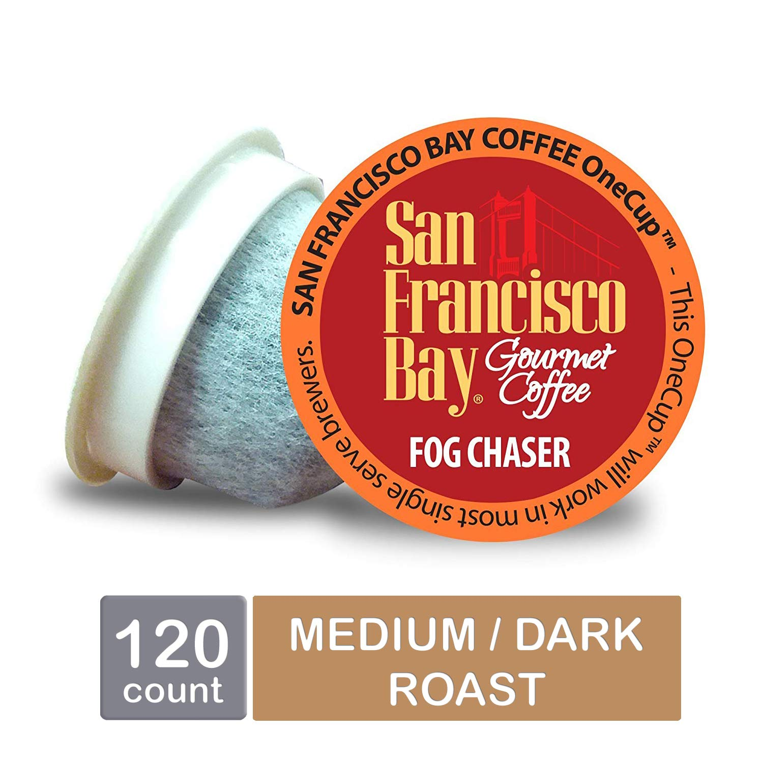 San Francisco Bay OneCup, Fog Chaser, Single Serve Coffee K-Cup Pods (120 Count) Keurig Compatible by SAN FRANCISCO BAY
