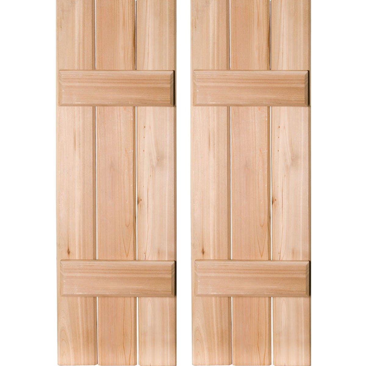 Ekena Millwork RWB12X052UNW Exterior Three Board