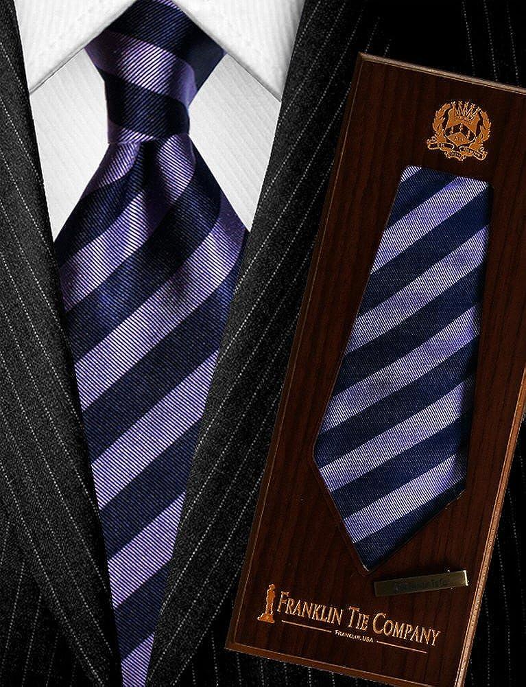 Púrpura con rayas moradas - hace un nudo grande - 7 pliegues ...