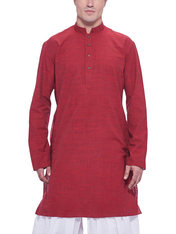 Manyavar Men's Casual Cotton Kurta (Only Kurta)