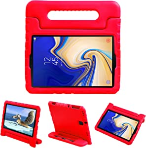 NEWSTYLE Kids Case for Samsung Galaxy Tab S4 10.5 2018 SM-T830/T835/T837 - EVA Shockproof Convertible Handle Protective Light Weight Kids Cover for Galaxy Tab S4 10.5 2018 Release Tablet (Red)