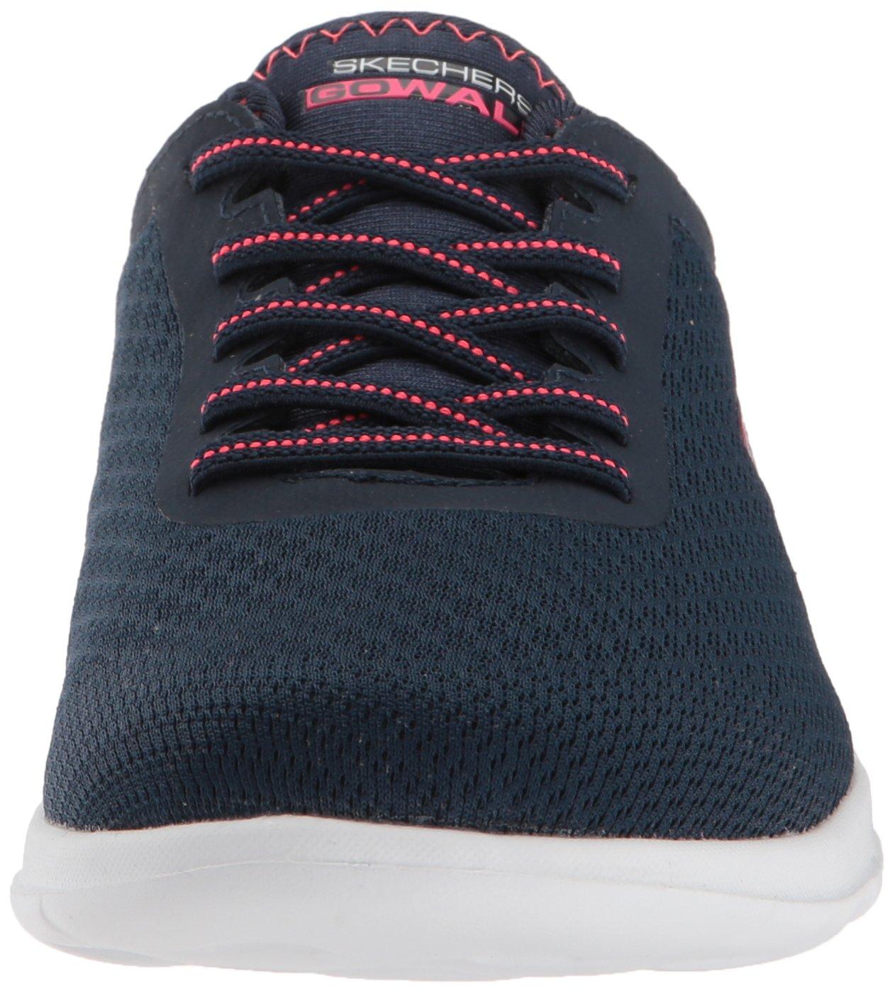 Skechers Women's Go Walk Lite-15350 Wide Sneaker B072R7DSF3 5 W US|Navy/Pink