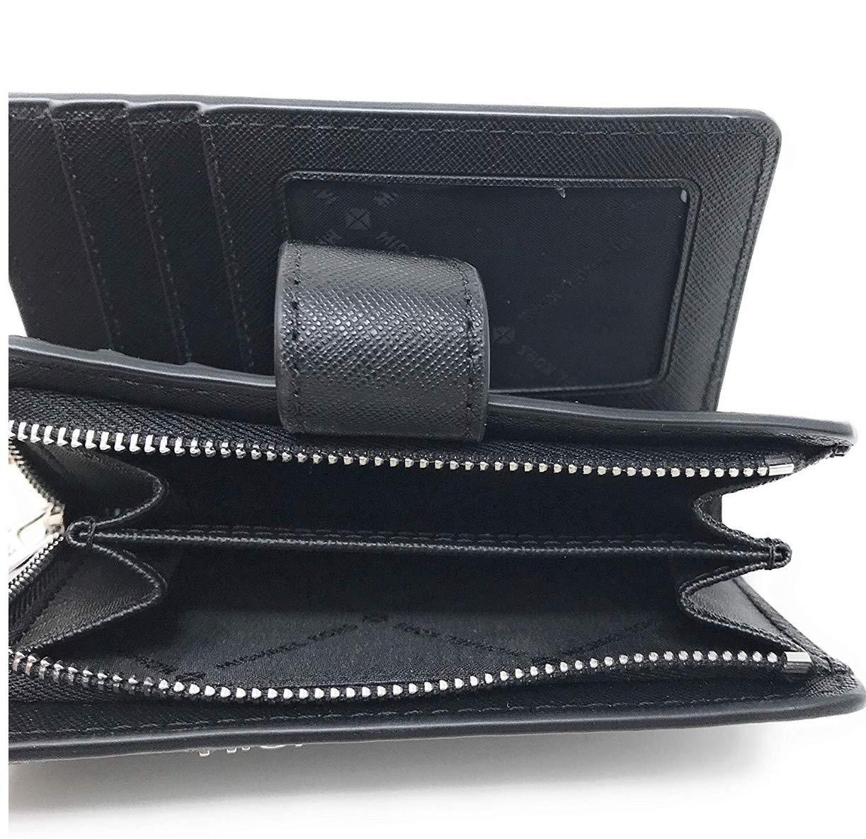 Michael Kors Jet Set Travel Saffiano Leather Bifold Zip Coin Wallet (Black PVC 2019) by Michael Kors (Image #6)