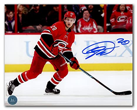 9b73832a8 Image Unavailable. Image not available for. Color  Sebastian Aho Carolina  Hurricanes Autographed ...