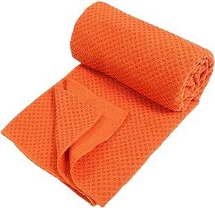 Exercise Yoga منشفة عادية مانعة للانزلاق - برتقالي