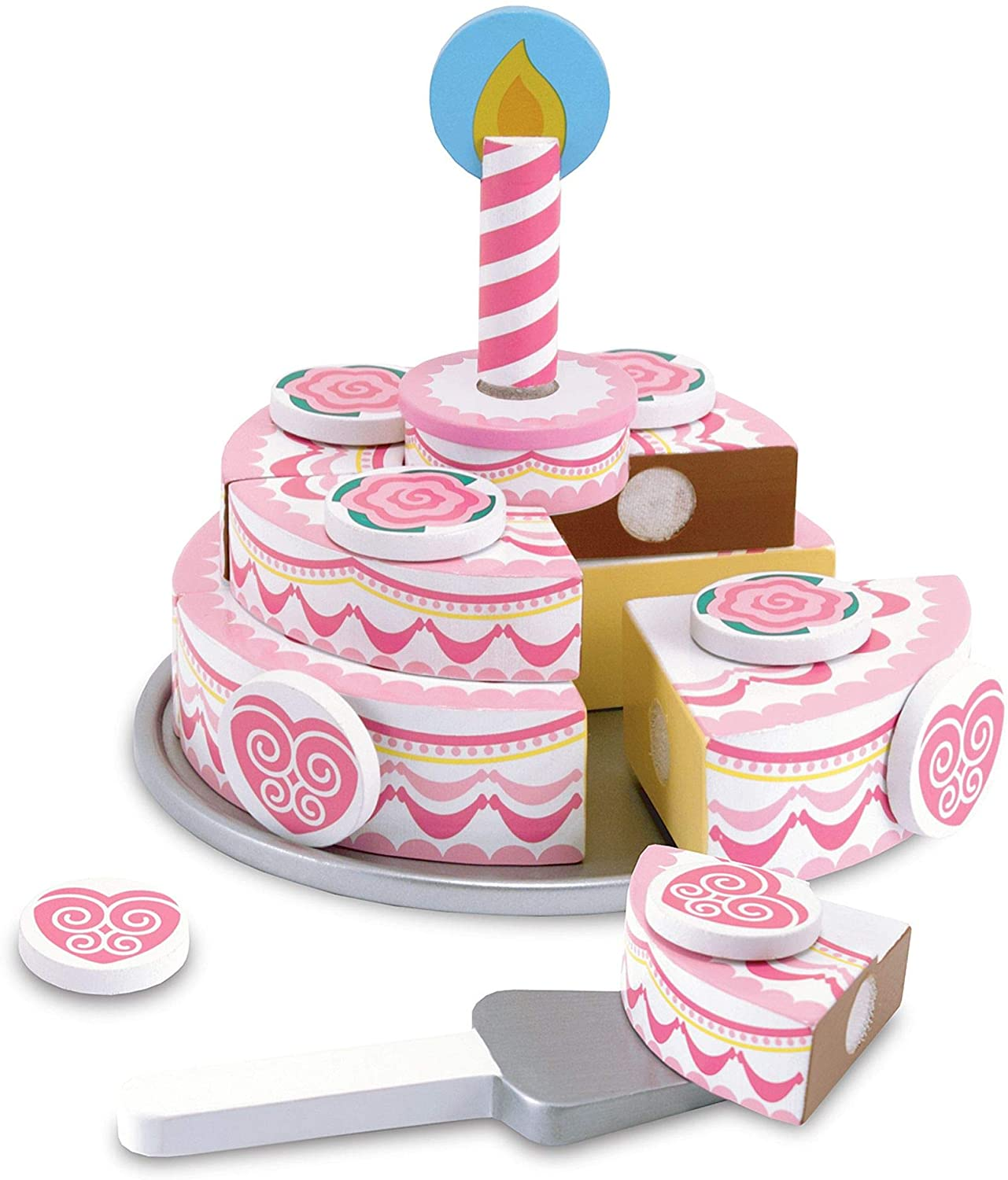 Astounding Melissa Doug Triple Layer Party Cake Wooden Play Food Tiered Funny Birthday Cards Online Alyptdamsfinfo
