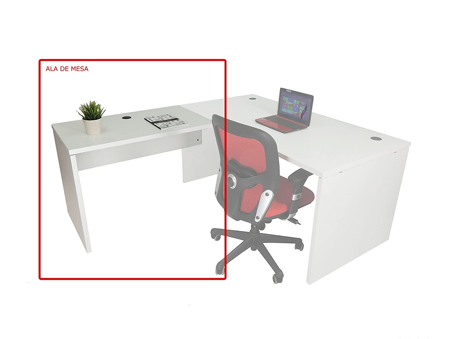 ala para Mesa Euro 2000. Color Blanco. 80x60 cm: Amazon.es: Hogar