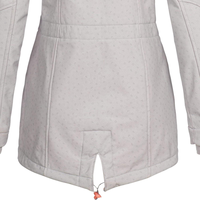 Sublevel Damen Softshelljacke LSL-368 Kurzmantel mit Kapuze