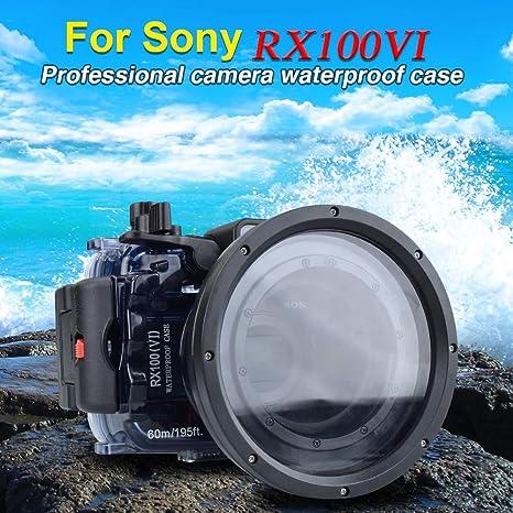 Sea frogs para Sony DSC-RX100 VI 60m / 195ft Carcasa de cámara ...