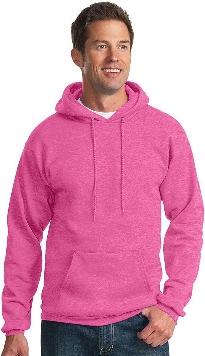 Port /& Company Mens Pullover Hooded Sweatshirt/_Heather Sangria/_XXXX-Large