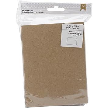 Amazon.com: American Crafts 50 Piece A2 Kraft Envelopes