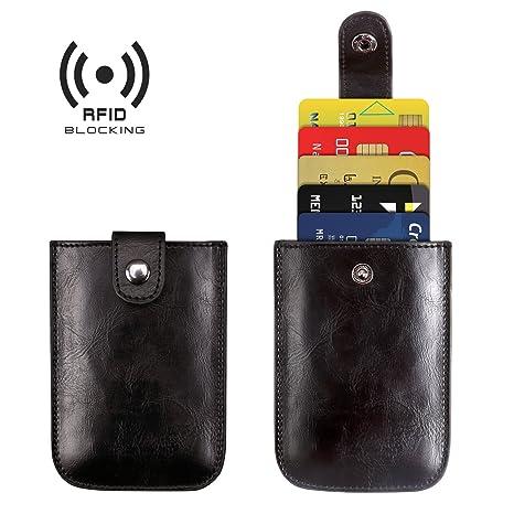 Amazon.com: Titular de la tarjeta de Crédito RFID bolsillo ...