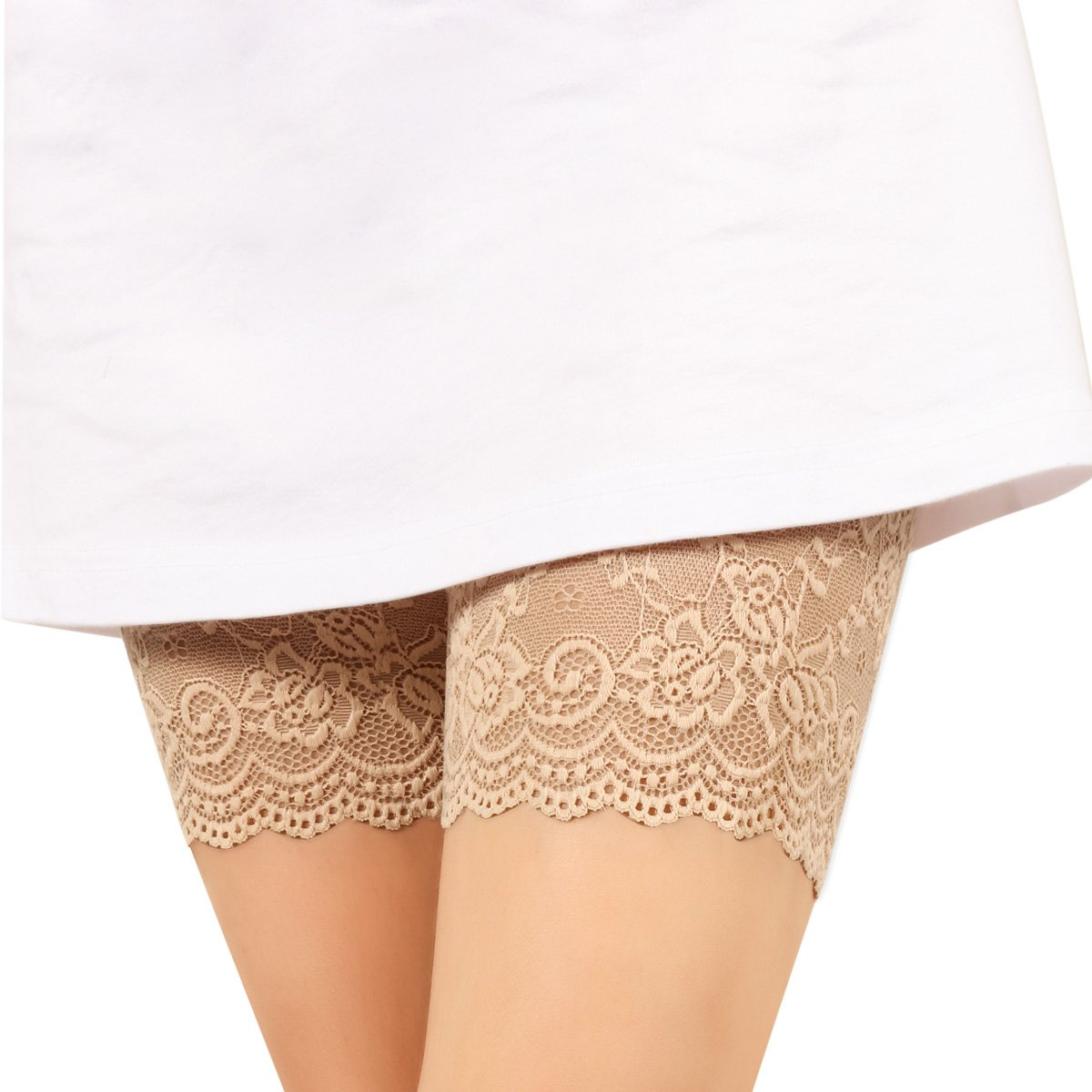 xhorizon TM FL1 Fashion Elastic Lace Thigh Bands with Silicone Prevent Sliding
