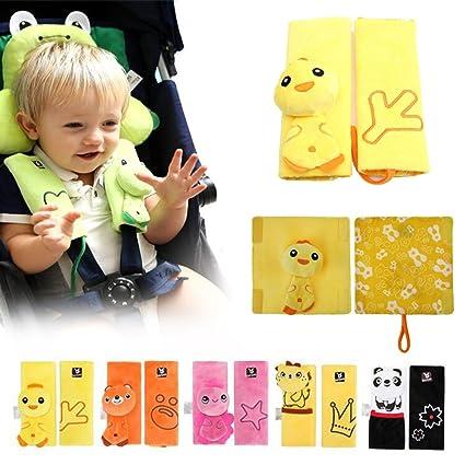 INCHANT animal de dibujos animados bebé cochecito infantil Cushy Straps, niños niños que protegen las almohadillas de la correa Belt Cover para ...