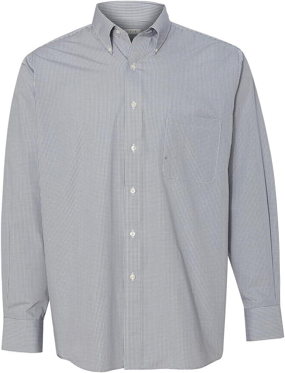 Van Heusen Mens Dress Shirts Regular Fit Gingham Button Down Collar