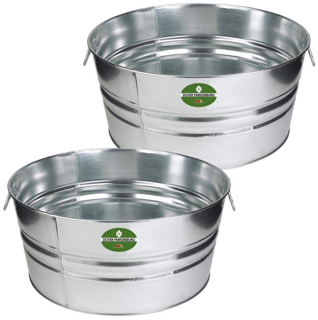 Dover Parkersburg DP3GS-2 Steel Tub, 17 gallon, Silver (2-Pack)