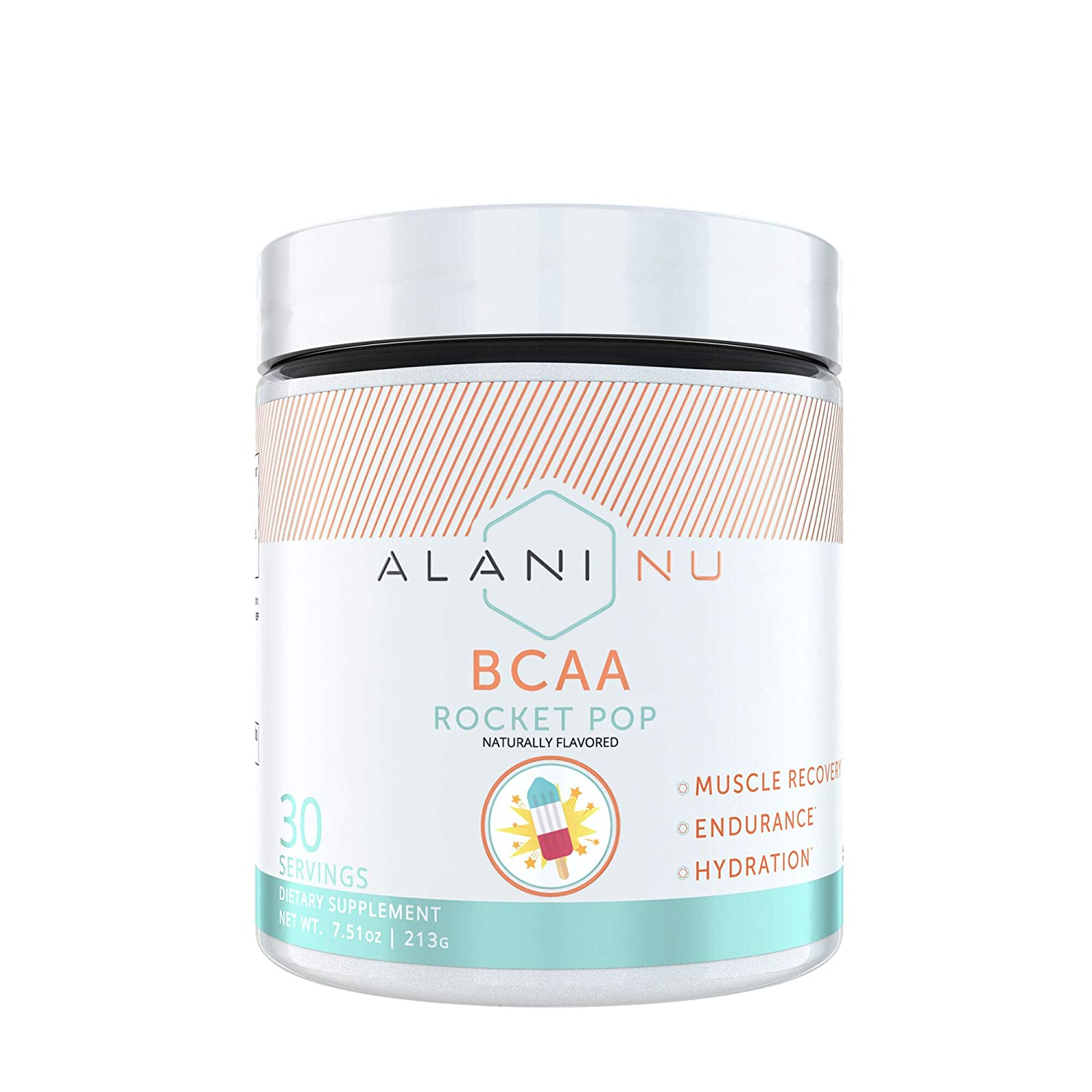 Alani Nu BCAA Branched Chain Essential Amino Acids Powder, Rocket Pop, 30 Servings