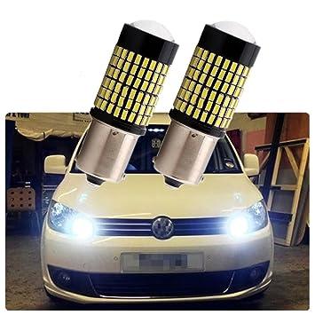 Fezz Bombillas LED Coche S25 Ba15S 1156 4014 144Smd Canbus Drl Luz Diurna