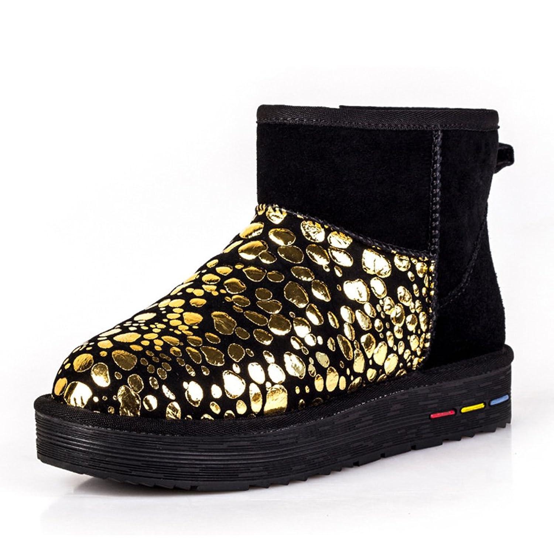 Unisex Beads Outdoor Flat Women's Snow Boots