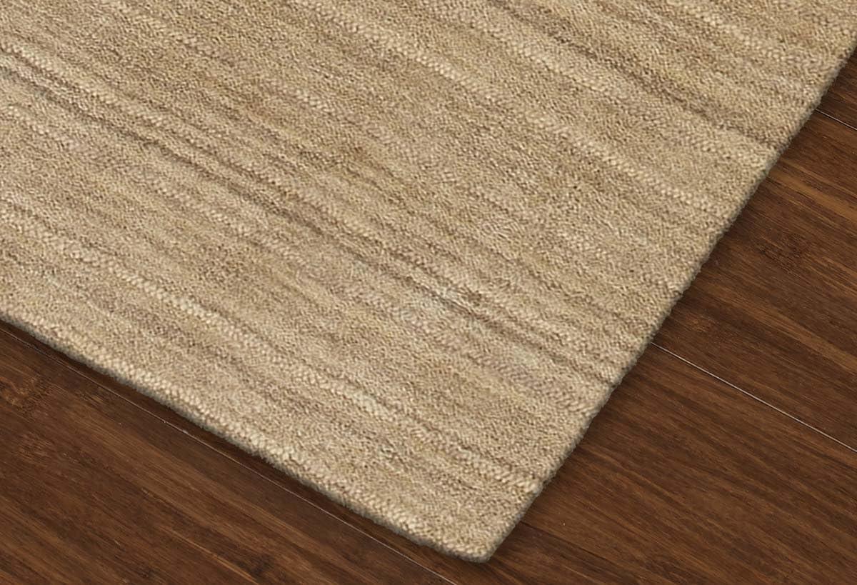Super Area Rugs Beige Rug Striped Solid Design 8 X 10 Wool Solid Carpet