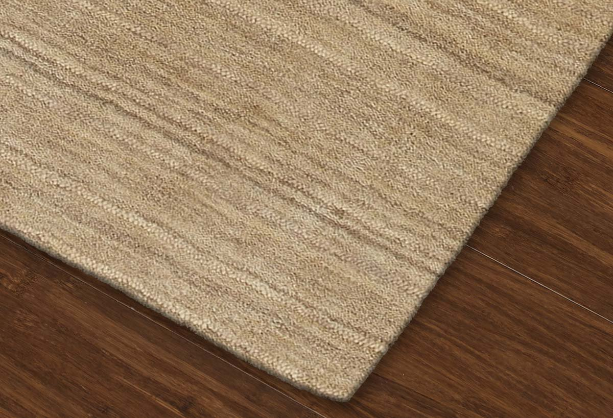 Super Area Rugs Beige Rug Striped Solid Design 8 X 10 Wool Solid Carpet